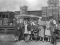 c1930 Arcadia rural family with produce at Hornsby Railway goods yard