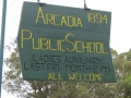 Arcadia Public School Original school sign in 2014 (1024x683)
